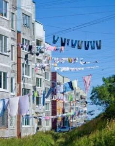 laundry on facade