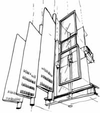 early sketches of curtain wall configuration